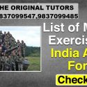 Military Exercises of India